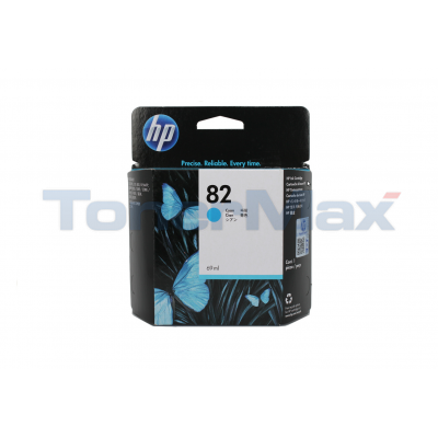 HP NO 82 INK CART CYAN 69ML